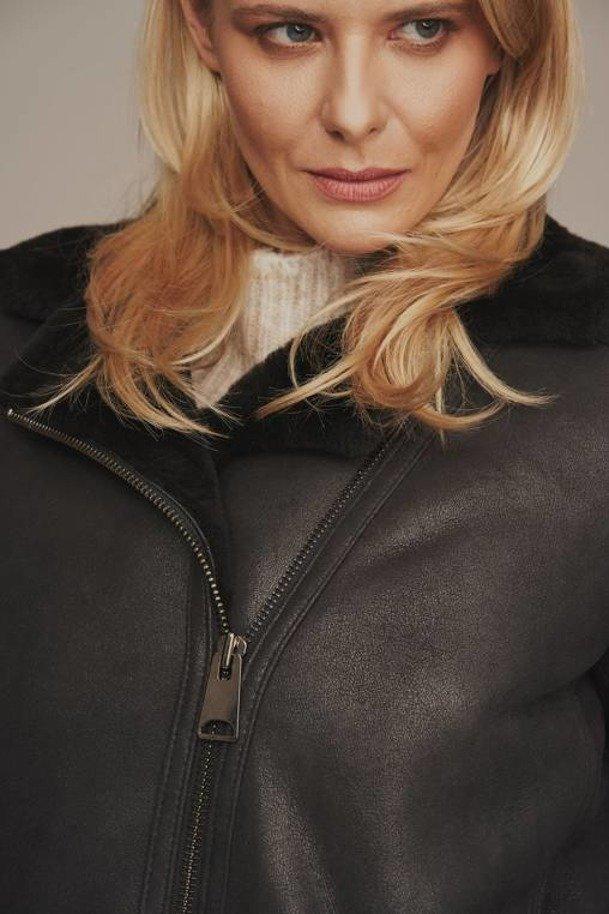 Letecká bunda s kožíškem dámská
