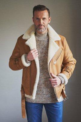 Men's sheepskin aviator jacket