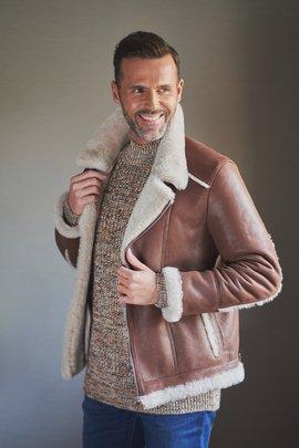 Men's sheepskin pilot jacket