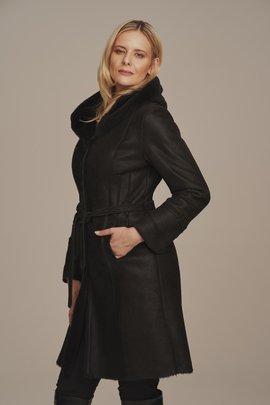 Women's genuine shearling coat