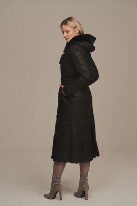 Women's long sheepskin coat