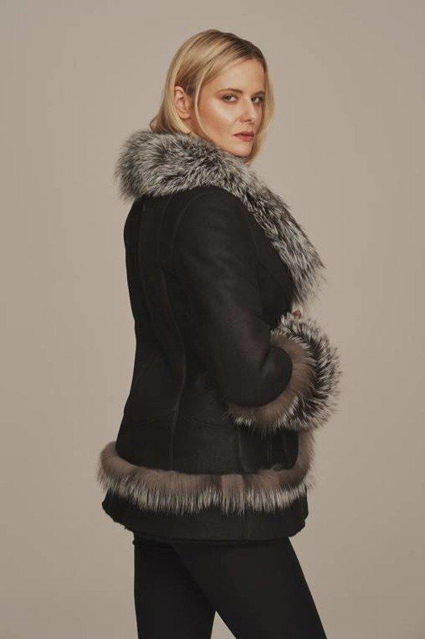 Women's sheepskin jacket