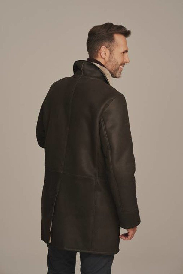 Lamme pels frakke herre