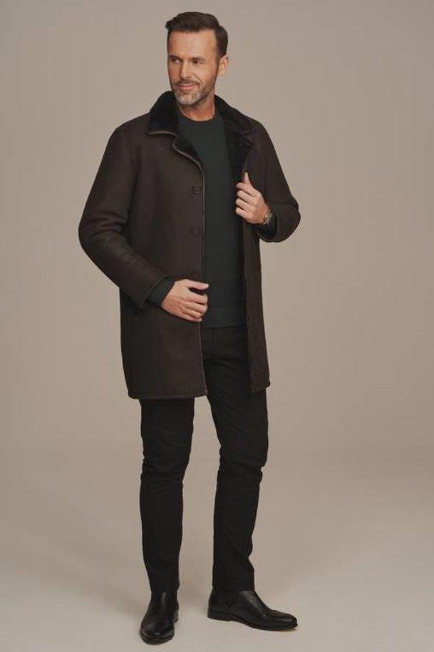 Saueskinn jakke herre