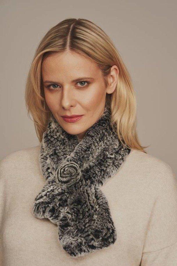 Winter authentic rex rabbit fur scarf