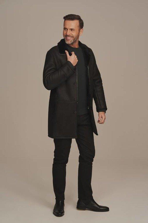 Płaszcz z futrem męski - Futro męskie
