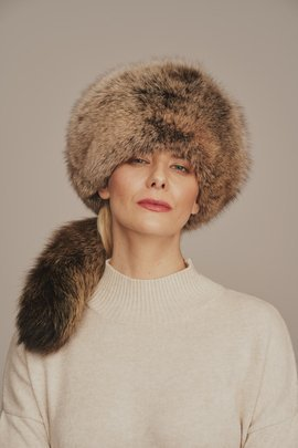 Dámska elegantná zimná čiapka