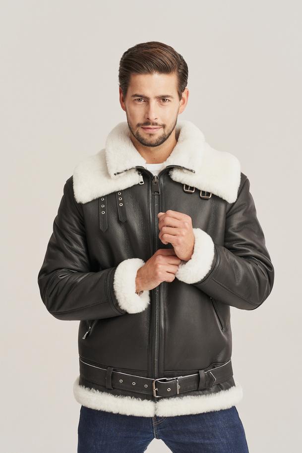 Pánska letecká bunda - Zimná kožená bunda